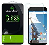 [2-Pack] Nexus 6 Screen Protector, Dmax Armor [Tempered Glass] 0.3mm 9H Hardness, Anti-Scratch, Anti-Fingerprint, Bubble Free, Ultra-clear