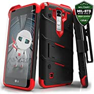 LG Stylo 2 Plus Case, Zizo [Bolt Series] w/ FREE [Stylo 2 Plus Screen Protector] Kickstand [Military Grade Drop Tested] Holster Clip - LG Stylo 2 Plus