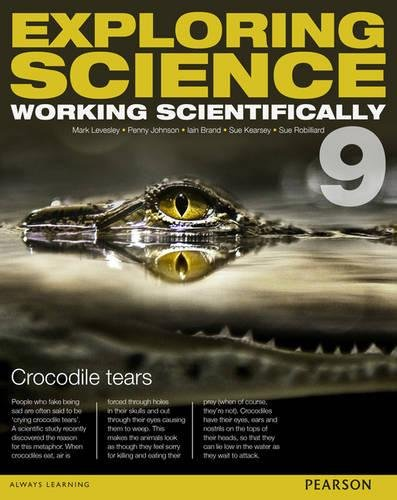Exploring Science: Working Scientifically Student Book Year 9 (Exploring Science 4) PDF