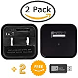 Hidden Camera 2 Pack | USB Spy Charger Cam | No WiFi So it Can't be Hacked | Two Free Card Readers | Memory Cards Not Included