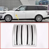 For Land Rover Range Rover Vogue SVO 2014-2018 ABS Matte Silver Black Car Side Door Air Vents Kit Trim Accessories