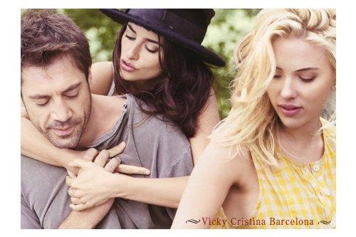 Vicky Cristina Barcelona Movie Art Print - Movie Memorabilia - 11x17 Poster, Vibrant Color, Features Javier Bardem, Penélope Cruz, Scarlett Johansson, Rebecca Hall, Chris Messina, Pablo Schreiber, Christopher Evan Welch.