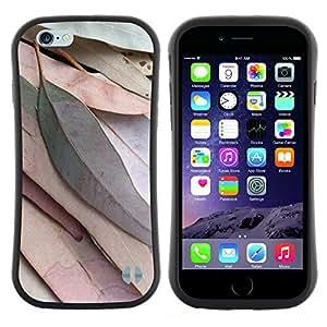 """Hypernova Slim Fit Dual Barniz Protector Caso Case Funda Para Apple (4.7 inches!!!) iPhone 6 / 6S (4.7 INCH) [Deja la caída del otoño verde Naturaleza Árbol""""]"""