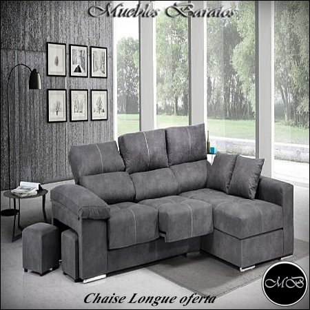 Home Actually Sofas 4 plazas Chaise Longue para Salon Sofa ...