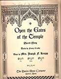 img - for Open the Gates of the Temple Sacred Song - Sheet Music - Words By Fanny Crosby book / textbook / text book