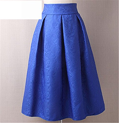 Eault Elegant Summer Style Vintage Skirt High Waist Work Wear Midi Skirts Womens Fashion red blue black Jupe Femme Saias - Fraser House Co Uk