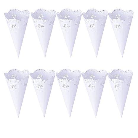 50 piezas de boda conos de confeti, ANBET Conos de Arroz ...
