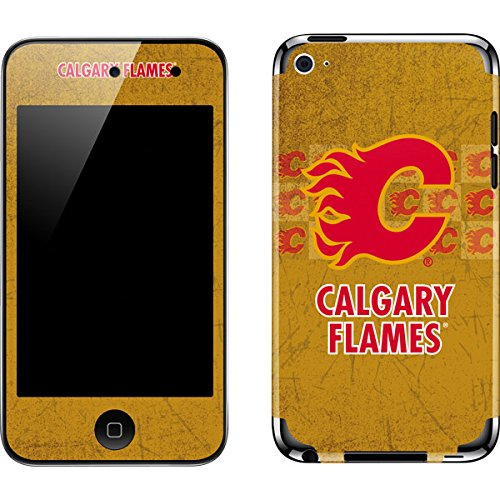 (NHL Calgary Flames iPod Touch (4th Gen) Skin - Calgary Flames Vintage Vinyl Decal Skin For Your iPod Touch (4th Gen))