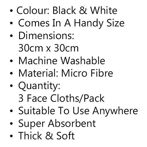 Super Soft Gants de toilette en microfibre Qualit/é sup/érieure Ultra absorbant