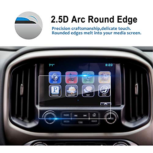 LFOTPP Glass Protector Replacement for 2015-2018 Chevrolet Colorado Suburban Tahoe 8 Inch Mylink, Tempered Glass Navigation Infotainment Center Touch Screen Protector, Scratch-Resistant