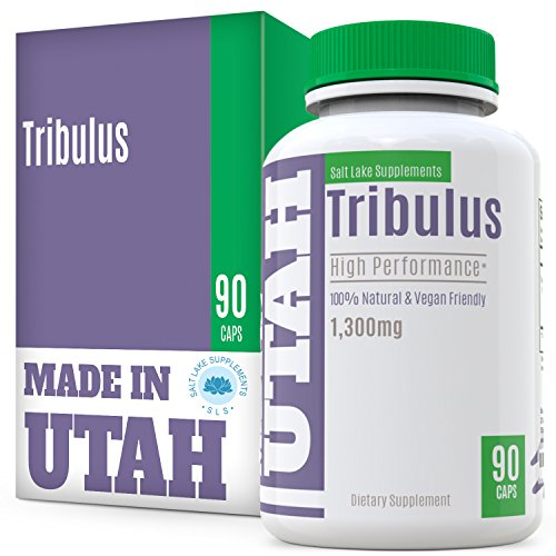 Tribulus Terrestris Extract With 45 percent Steroidal Saponin Formula Regulates Natural Testosterone Levels, Increases Libido, Endurance, Energy, Stamina And Promotes Muscle Gain,90 Capsules