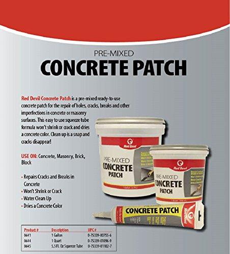 Red Devil 0644 Concrete Patch, Quart, Gray