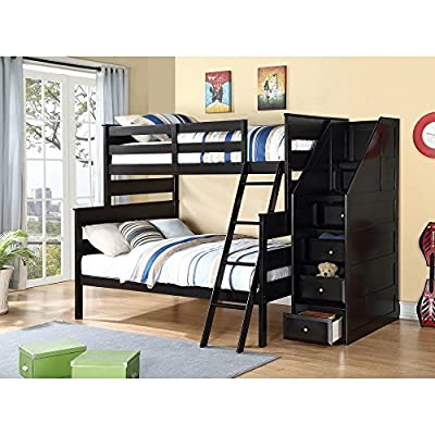 Acme Furniture Alvis Twin Over Full Bunk Bed - Black