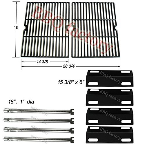 bbq factory® Replacement Ducane 4 Burner Gas Grill 4100 ; Ducane Affinity 4200,4400 Gas Grill Burners,Heat Plates,Cooking ()