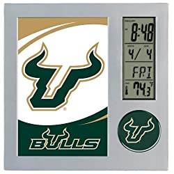 WinCraft NCAA University of South Florida Desk Clock, Black