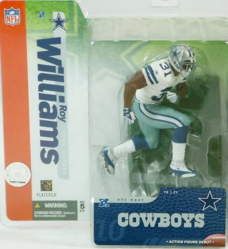 Roy Williams Dallas Cowboys White Jersey Chase Alternate Variant McFarlane NFL Series 10 Six Inch Action Figure by (Variant Mcfarlane Toys)