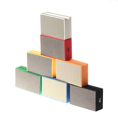 Zfe Diamond Hand Polishing Pads For Stone Concrete Granite Marble 60  3500   Set Of 7 Pcs