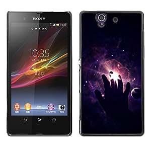 Be Good Phone Accessory // Dura Cáscara cubierta Protectora Caso Carcasa Funda de Protección para Sony Xperia Z L36H C6602 C6603 C6606 C6616 // Cosmos Space Deep Meaningful Black