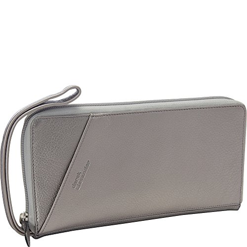 Derek Alexander Full Zip Travel Wallet, Silver, One Size by Derek Alexander Leather