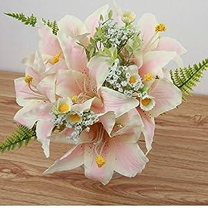 Artificial Flowers Lily Silk Bridal Bouquets/Artificial Flowers Party 1Set 31