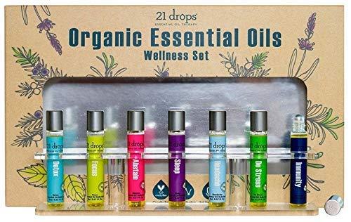 21 Drops Organic Essential Oils Wellness Set