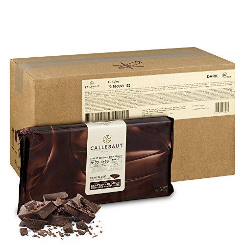 Callebaut 70-30-38 Belgian Dark Baking Chocolate Block - Extra-bitter Dark Semi-sweet Chocolate - High cocoa content of 70.4% - 44 Lbs (5 Blocks Per (Extra Bitter)