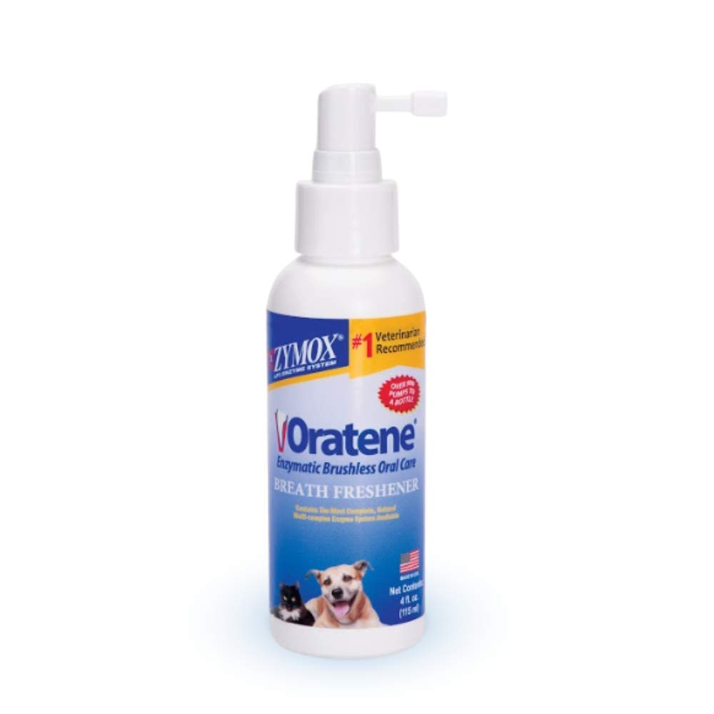 Pet King Brands Oratene Brushless Oral Care Breath Freshener for Dogs and Cats, 4oz