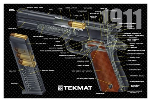 1911 Handgun Pistol Gun Cleaning Mat - Brand New Cut Away design
