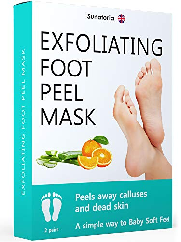 Improved 2019 Formula Exfoliating Foot Peel Mask - Makes Your Feet Baby Soft - Peeling away Calluses and Dead Skin Remover - Repair Rough Heels with Baby Foot Gel Socks Booties. (Foot Feet Peel Baby)