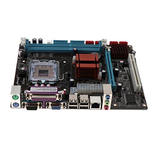 Flameer Desktop Motherboard G41-775 Socket DDR3 1066/1333 Memory 4GB Micro-ATX Board