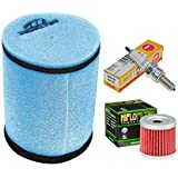 tune up kit pre-oiled air filter oil filter spark plug for suzuki ltz 400