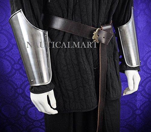 Medieval Plate Armor 18 Gauge Steel Arm Bracers by NAUTICALMART