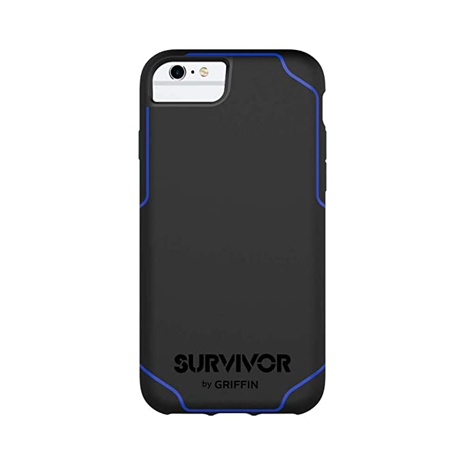 brand new e32a2 f7f21 Griffin Survivor Journey for iPhone 7, Black/Blue - Ultra-Slim,  Ultra-Rugged Drop Protection for iPhone 7