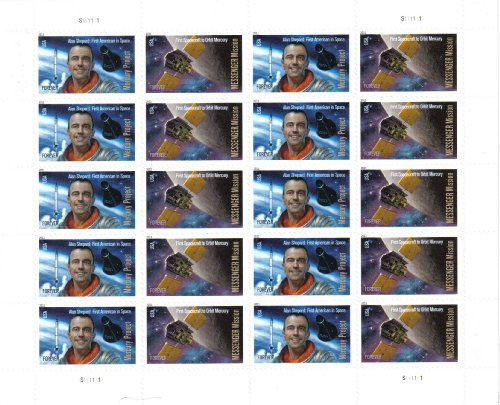 Commemorative Pane (Mercury Project and Messenger Mission (Forever®) Commemorative Stamps Pane of 20 Stamps by Postage Stamps)