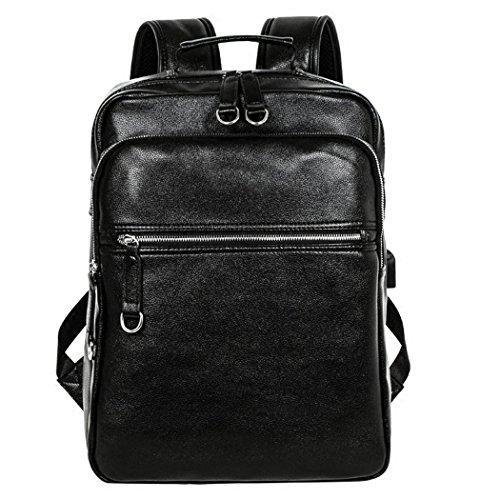 Men Backpack - Bageek Waterproof Backpacks for Men PU Leather School Bag Daypack Designer Backpacks with USB Charging - Designer Male