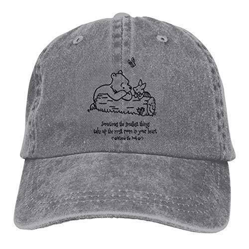 NEXT DAY ONE Donkey Piglet Winnie Pooh Eeyore Baseball Caps Adjustable Denim Fabric Hat Gray