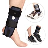 Ankle Brace for Men & Women, Rigid Ankle Stabilizer Can Be Worn in Shoes for Protection & Provide Sprain Support for Basketball Soccer Volleyball Football & Baseball by Velpeau (Right Foot, Medium)