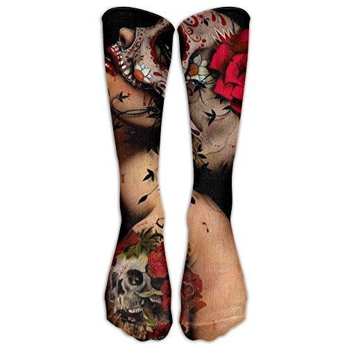 Viva La Muerte Fashion, Stylish, Comfortable, Soft Stockings For Unisex, Easy To (Nc Halloween Festivals)