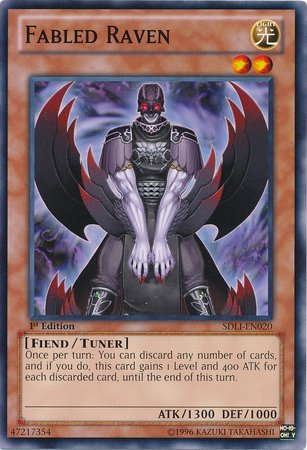 Yu-Gi-Oh! - Fabled Raven (SDLI-EN020) - Structure Deck: Realm of Light - 1st Edition - Common Ravens Mint