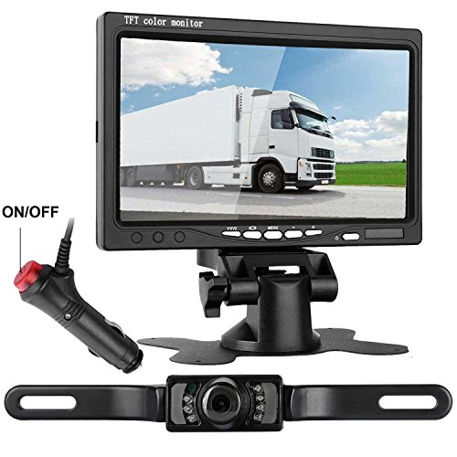 emmako backup camera and 7 tft display monitor kit. Black Bedroom Furniture Sets. Home Design Ideas