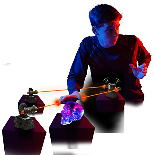 SpyX / Lazer Trap Alarm - Invisible Beam Barrier + Alarm Spy Toy to Protect Your Stuff! Perfect Addition for Your spy Gear Collection!