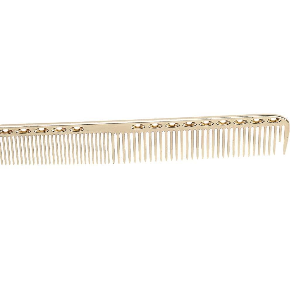 Silver Reference description resistente Alluminio pettine per massaggi antistatici Lwanfei pettine professionale per parrucchiere