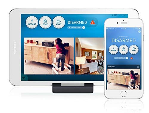 LifeShield Home Security Advantage Kit Includes Base Station, Security Touchpad, Keypad, 2 Motion Sensors, 4 Entry Sensors, Fire Safety Sensor, Key Chain Remote, Indoor Camera.