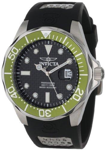 Invicta Men's 12560 Pro Diver Black Carbon Fiber Dial Black Polyurethane Watch