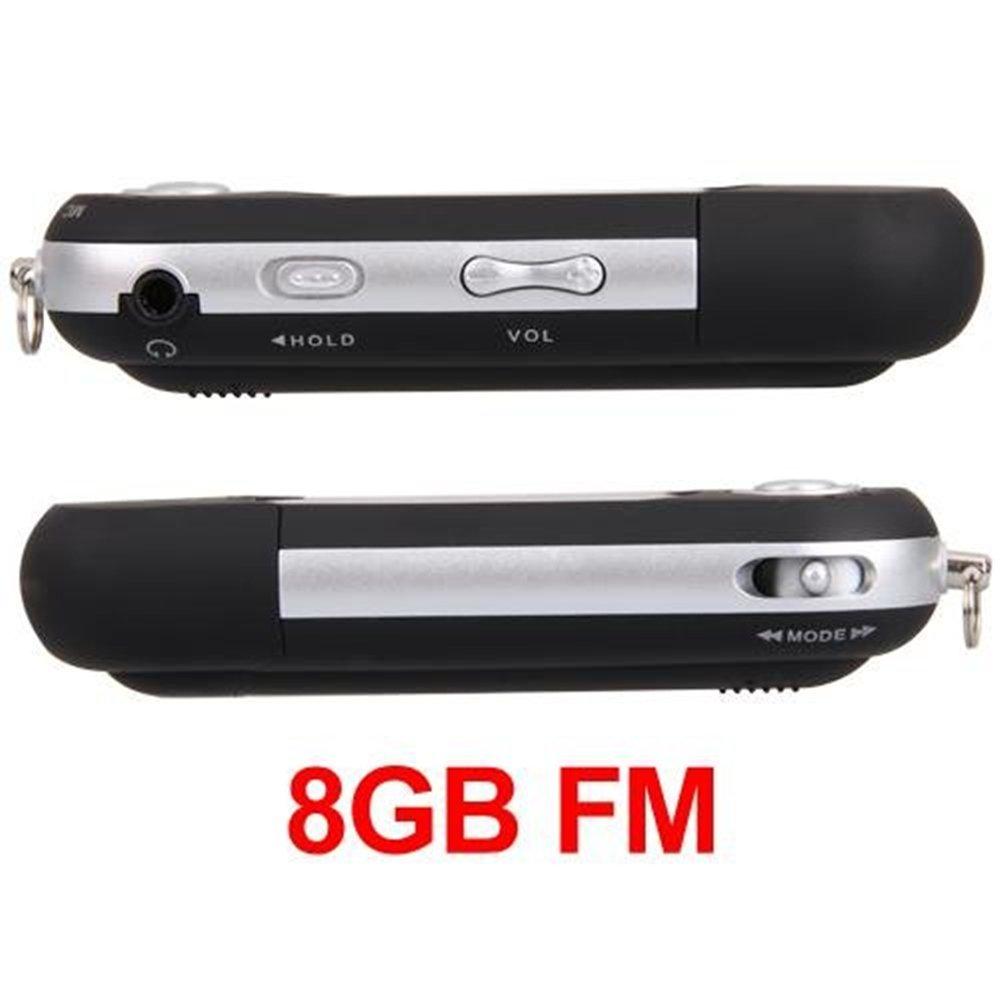 Ecloud ShopUS Black 8GB 8G USB Flash Drive LCD Mini MP3 Player w/ FM Radio