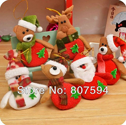 Christmas Ornament 20pcs/lot Deer Snowman Pendant Chrismas Tree,christmas Gift,santa Claus,christmas Decoration Supplies S16 - Mayo Jar Costume