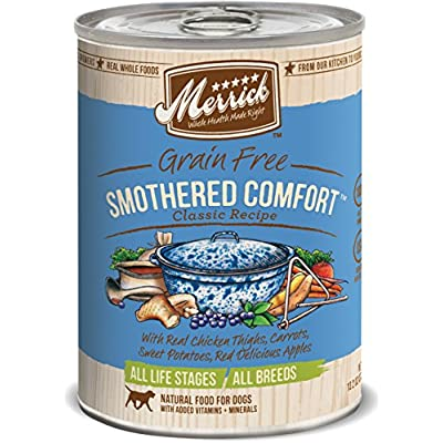 Merrick Smothered Comfort Canned Dog Food Case