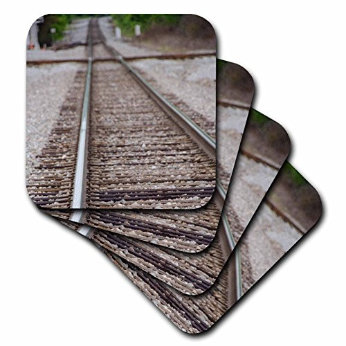 3dRose Mississippi, Corinth. Railroad Tracks at The Crossroads Museum. - Soft Coasters, Set of 8 (CST_210311_2)