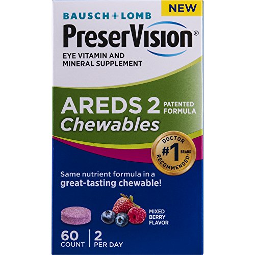 Preservision Areds 2 Formula Chewables, 60 Count (Bausch And Lomb Preservision Areds 2 Formula)