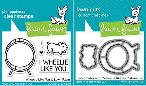 Lawn Fawn Wheelie Like You Clear Stamp and Die Set - Includes One Each of LF838 (Stamp) & LF839 (Die) - Bundle Of 2